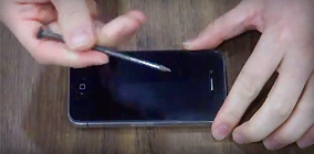 BUFF Lab Test Video : iPhone4 Scratch Test